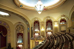 Missouri Theatre (Columbia, Missouri) - Image: View of Missouri Theatre interior from the balcony