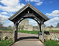 View of Portchester Castle from St Mary's Church.jpg