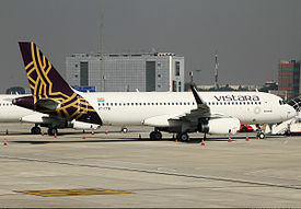 Vistara Airbus A320-232 at Delhi Airport.jpg