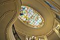 Vitrall del sostre de l'escala oval del palau de Benicarló.JPG