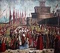 Vittore Carpaccio - Sant'Orsola polyptich - Incontro dei pellegrini col papa Ciriano sotto le mura di Roma.jpg