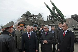 Armed Forces of Armenia - Vladimir Putin during his visit to the 102nd Russian military base in Armenia.