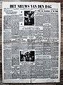 """Voorpagina Vlaams dagblad """"Het Nieuws Van Den Dag"""" 4 Februari 1943.jpg"""