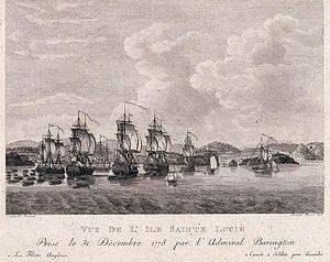Capture of St. Lucia - Image: Vue de Sainte Lucie prise en decembre 1778 par Barrington