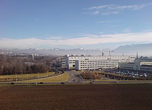 Lausanne campus - The campus, seen from the west, before the construction of the Swiss Tech Convention Center