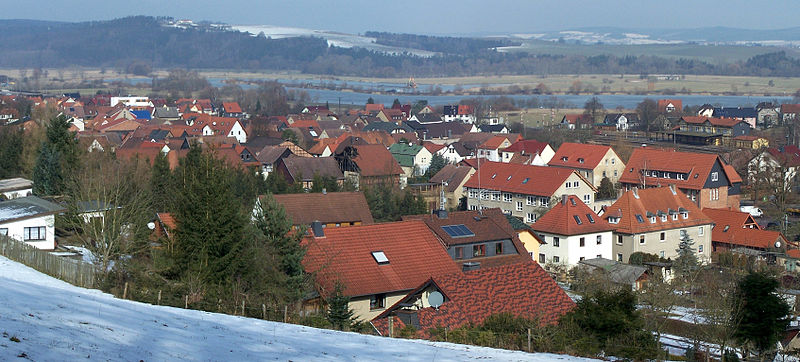 Blick über das Zentrum von Immelborn