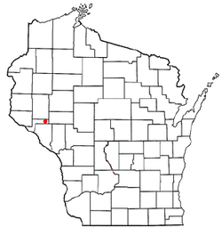 Location of Albany, Pepin County, Wisconsin