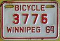WINNIPEG MANITOBA 1964 -BICYCLE PLATE - Flickr - woody1778a.jpg