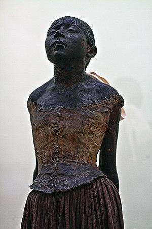 Marie van Goethem - Little Dancer of Fourteen Years, detail of Degas' statue of van Goethem.