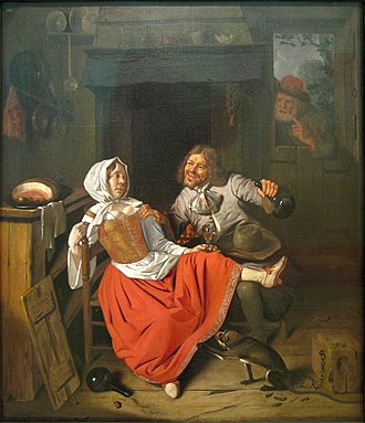 Pieter Gerritsz van Roestraten - The proposal.