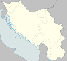 Location of Banjica within occupied Yugoslavia