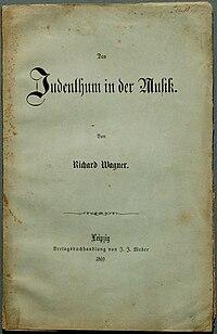 Das Judenthum in der Musik cover
