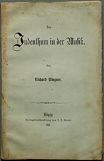 Das Judenthum in der Musik Antisemitic work on music theory by Richard Wagner