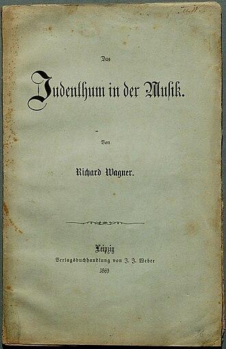 Das Judenthum in der Musik - Title page of the second edition of Das Judenthum in der Musik, published in 1869