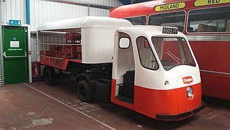 Wales & Edwards - A 5-wheel Loadmaster milkfloat, built in 1963, registration number 8505 PF, and now preserved at the Transport Museum, Wythall