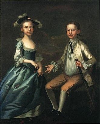John Wollaston (painter) - Image: Warner Lewis II and Rebecca Lewis John Wollaston