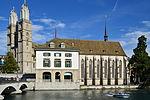 Wasserkirche - Grossmünster - Limmat - Münsterhof 2012-09-26 16-04-24 ShiftN.jpg