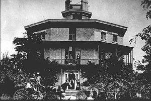Octagon House (Watertown, Wisconsin) - The Watertown Octagon House in 1933