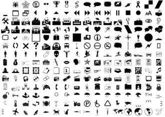 Webdings - Webdings font sample showing the Webdings encoding