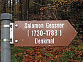Wegweiser zum Gessner-Denkmal am Klöntalersee.JPG