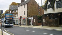 Wellingborough HighStreet with X47 bus visible.JPG