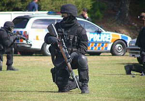 Armed Offenders Squad - An AOS member armed with a sniper rifle in 2008