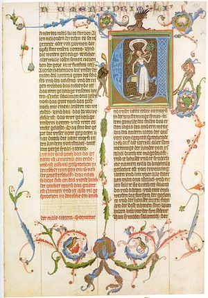 Bible translations in the Middle Ages - Image: Wenzelsbibel 03
