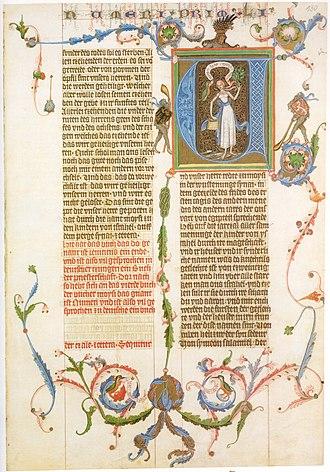 Bible translations in the Middle Ages - Image: Wenzelsbibel 03