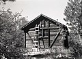 West Rim shelter cabin, Building 135, on West Rim Trail, seven miles from canyon floor. ; ZION Museum and Archives Image 008 01 (c999bc50e097453c96980e8de6f82f2c).jpg