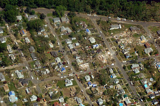2011 New England tornado outbreak - Homes suffering varying degrees of damage