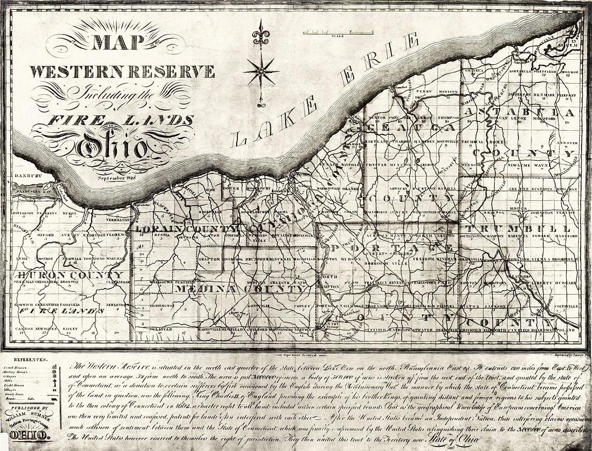 Firelands Wikipedia - Map of northern ohio