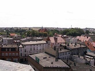 Ostrzeszów - Image: Widok z baszty Ostrzeszów 2