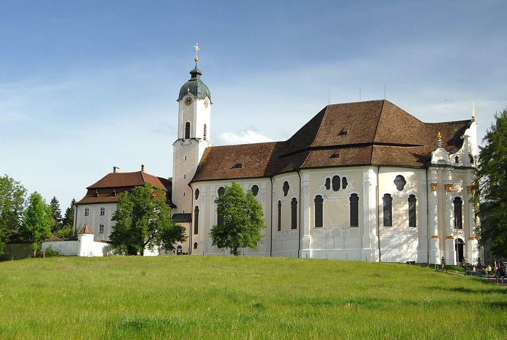 Wieskirche außen (UNESCO-Welterbe in Bayern)