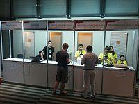 Wikimania 2015-Wednesday-Registration desk (5).jpg