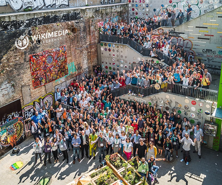 Wikimedia Conference 2018, Group photo (2) with logo.jpg