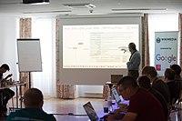 Wikimedia Hackathon Vienna 2017-05-19 Fantastic MediaWikis 005.jpg