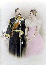 Guillermo II y su primera esposa Augusta Victoria.