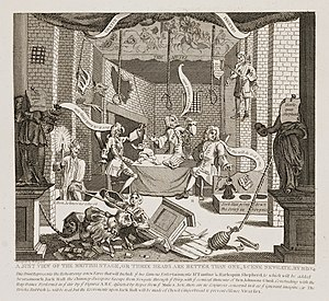 A Just View of the British Stage - Image: William hogarth just view of the british stage