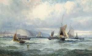William Anslow Thornley - Fishing vessels off Scarborough.jpg