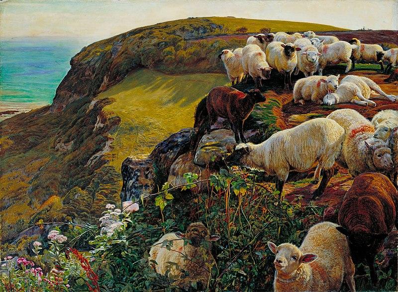 Файл: Уильям Холман Хант - Наши английского побережья, 1852 (`Заблудившийся овец) - Google Art Project.jpg