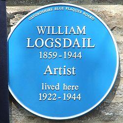 Photo of William Logsdail blue plaque
