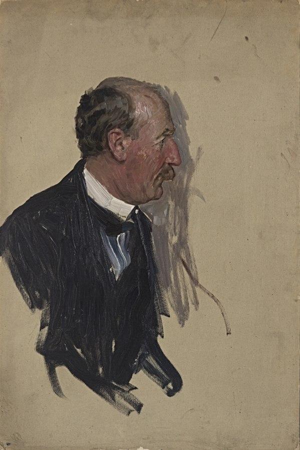 Ohne Titel (Portraitstudie Müller-Meiningen, wahrscheinlich Reichstagsabgeordneter der Sozialdemokraten)