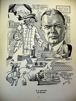 William R. Hopkins - 1924 caricature of Hopkins, by E. A. Bushnell