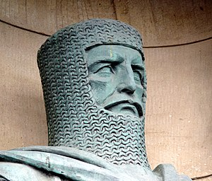 English: 1929 statue of William Wallace, one o...