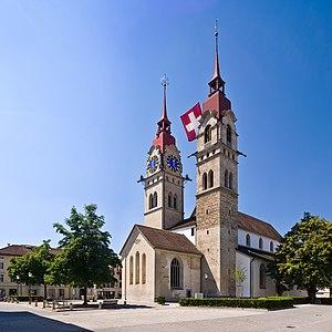 Die Stadtkirche Winterthur (Schweiz) von Nordo...