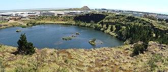 Matukutururu - Image: Wiri Mountain quarry panorama