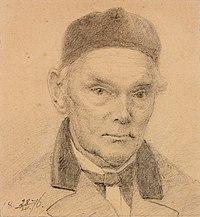 Woldemar Friedrich Krüger, Autoportree, joonistus, 1876 TKM TR 3685 B 903.jpg