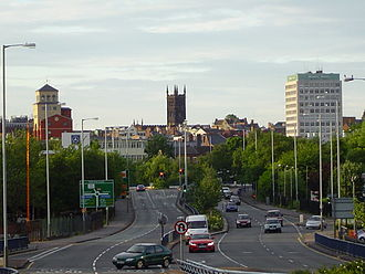 Billy Wright (loyalist) - Skyline of Wolverhampton, England, where Wright was born to Northern Irish Protestant parents