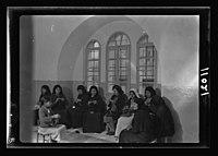 Women's Institute, Jerusalem. Group of women knitting LOC matpc.19908.jpg