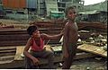 Worker and Boy - Science City Under Construction - Calcutta 1995-06-09 118.JPG